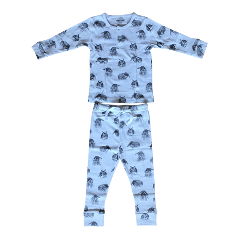 Ours Two Piece Pajama in Bunny Print