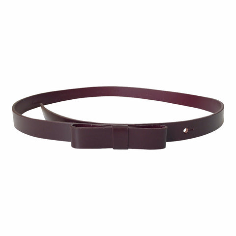 Bow Belt in Deep Bourdeaux - Sonatina