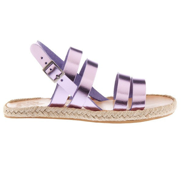 Kythira Sandals in Metallic Lilac