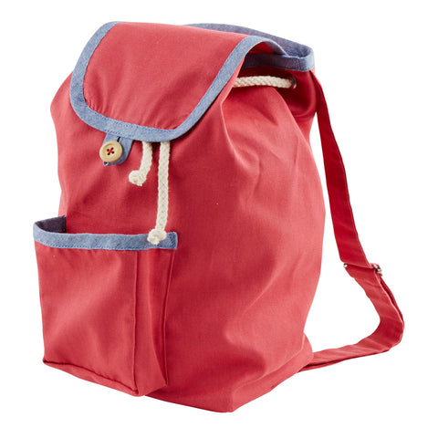 Knapsack in Berry Red