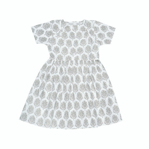 Luna Dress in Grey Flower - Pierrot la Lune | niko+ava