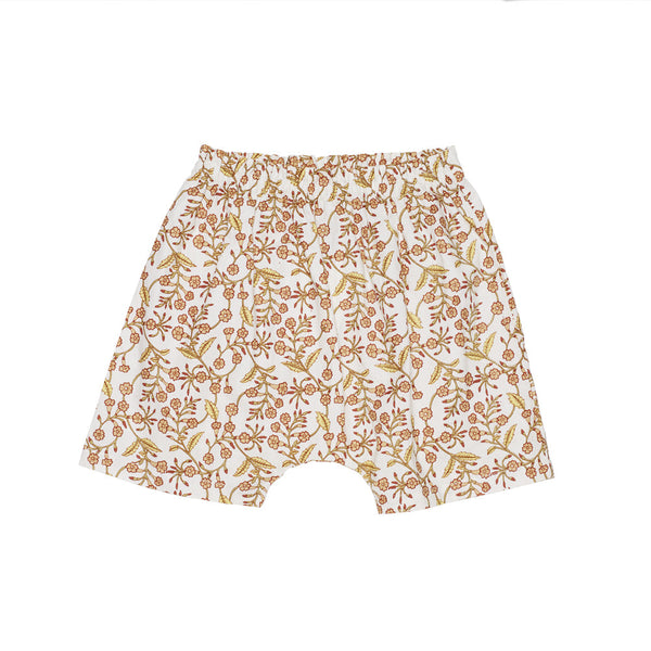 Molly Shorts in Orange Flower - Pierrot la Lune | niko+ava