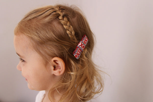 Hair Bow Set in XOX Red - Annaliv