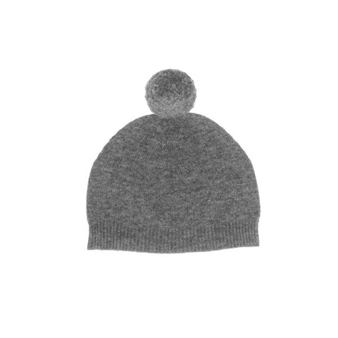 Pompom Hat in Charcoal
