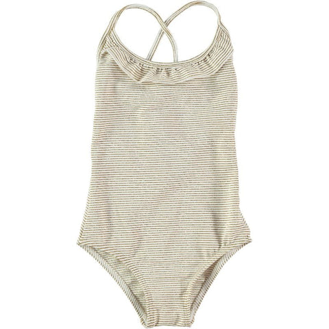 Swimsuit in Gold Stripes - Curumi | niko+ava