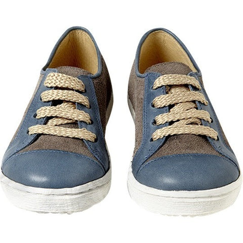 Sunny Sneaker in Blue and Grey Leather