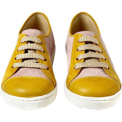 Sunny Sneaker in Pink and Mustard Leather