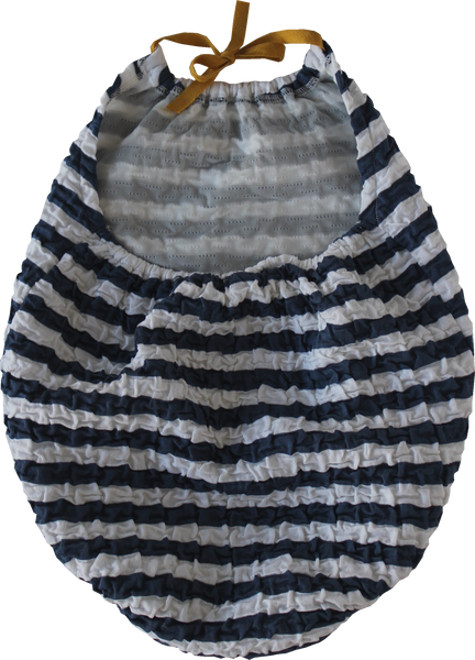 Navy Striped Swimsuit