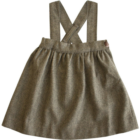 Brown Suspender Skirt