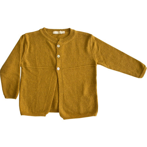 Knitted Mustard Cardigan