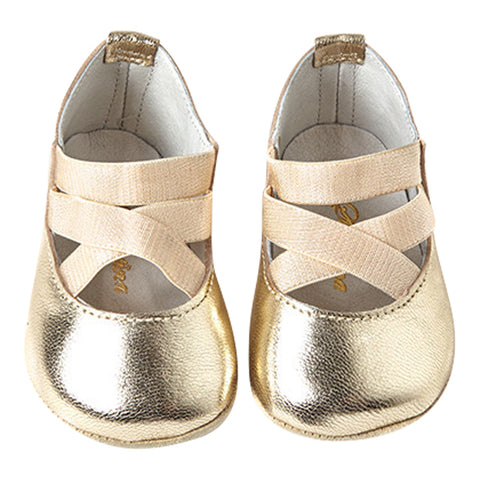 Audry Shoes in Gold Leather - Sonatina