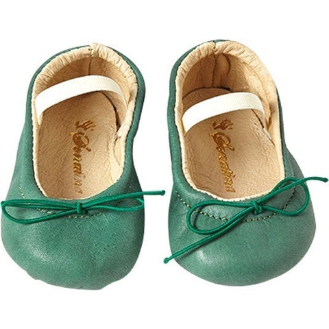 Pampered Shoes in Mint Leather