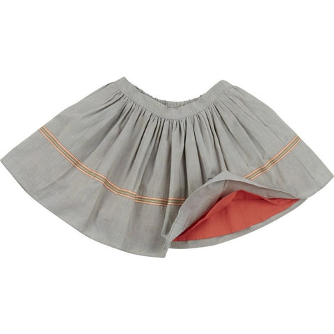 Tilde Skirt in Grey & Coral