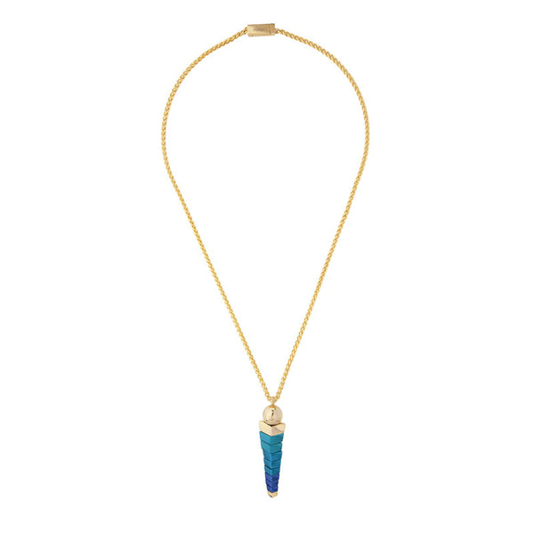 Tuisha Pendant in Gold and Blue