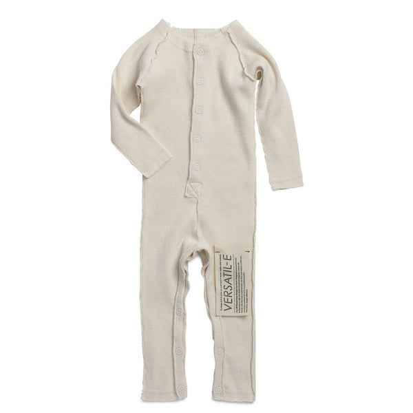 Long Sleeve Onesie in Natural