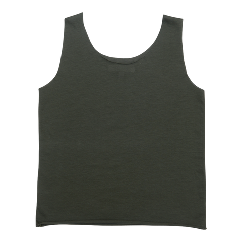 Women's Linen Tank Top in Olive