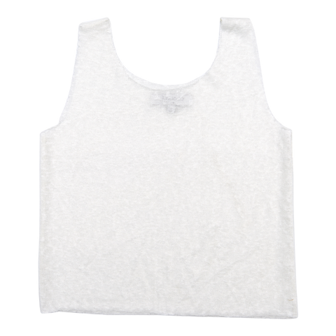 Women's Linen Tank Top in White