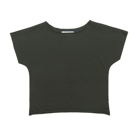 Women's Linen T-Shirt in Olive