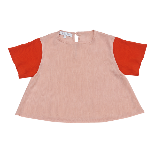 Crepe Top in Pink - Paade Mode