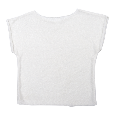 Women's Linen T-Shirt in White