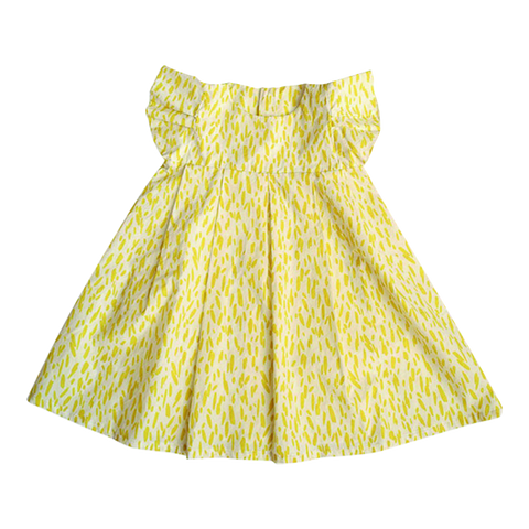 Dress Dora Percale in Citron Print - Macarons