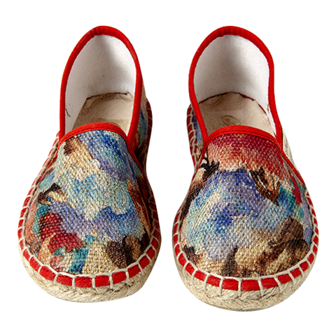 Women's Espadrilles in Flower Print Fabric