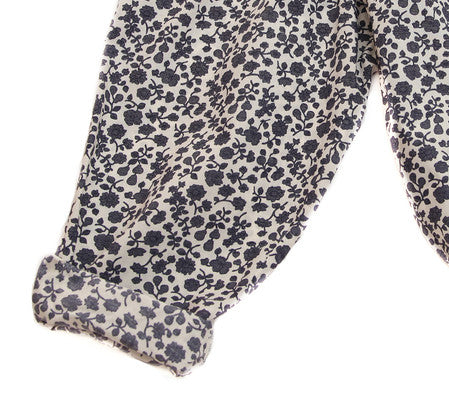 Druze Pant in Navy Flower Print - Noro