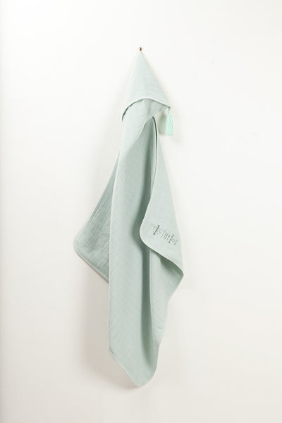 Hooded Towel in Baby Blue - Moumout