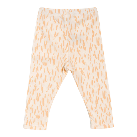 Leggings Lulu Rib Print in Salmon