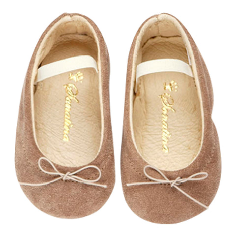 Pampered Shoes in Beige Suede