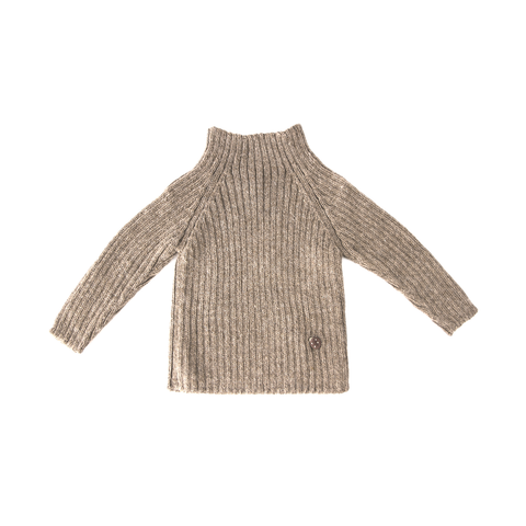 Women's Rib Sweater in Pebble