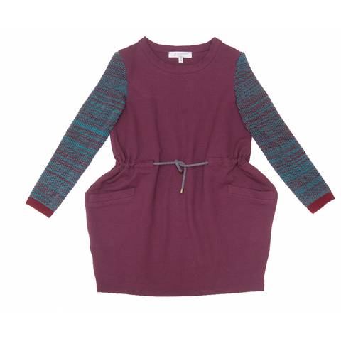 Drawstring Dress in Plum - Paade Mode