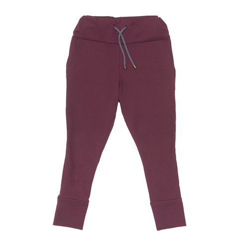 Drawstring Trousers in Plum - Paade Mode
