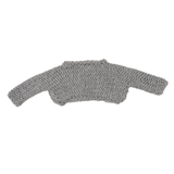 Handknit Cropped Pebbles Sweater in Grey - Paade Mode