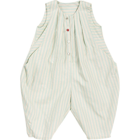 Overall Ola Seersucker in Mint