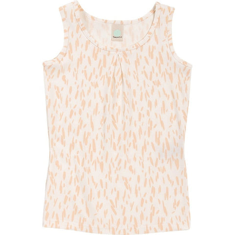 Tank Top Tami Rib Print in Salmon