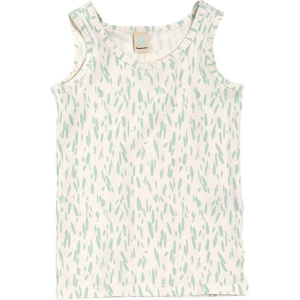 Tank Top Toby Rib Print in Mint