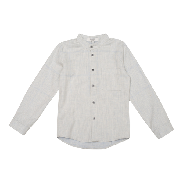Up North Mandarin Collar Shirt in Grey