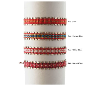 Unisex Pin Egyptian Loom Friendship Bracelet