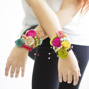 Bright Rose Prayer Bracelet - Amano Artisans