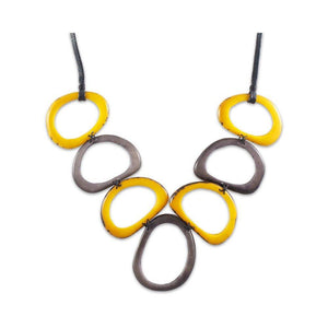 Calamar Tagua Nut  Necklace - Yellow