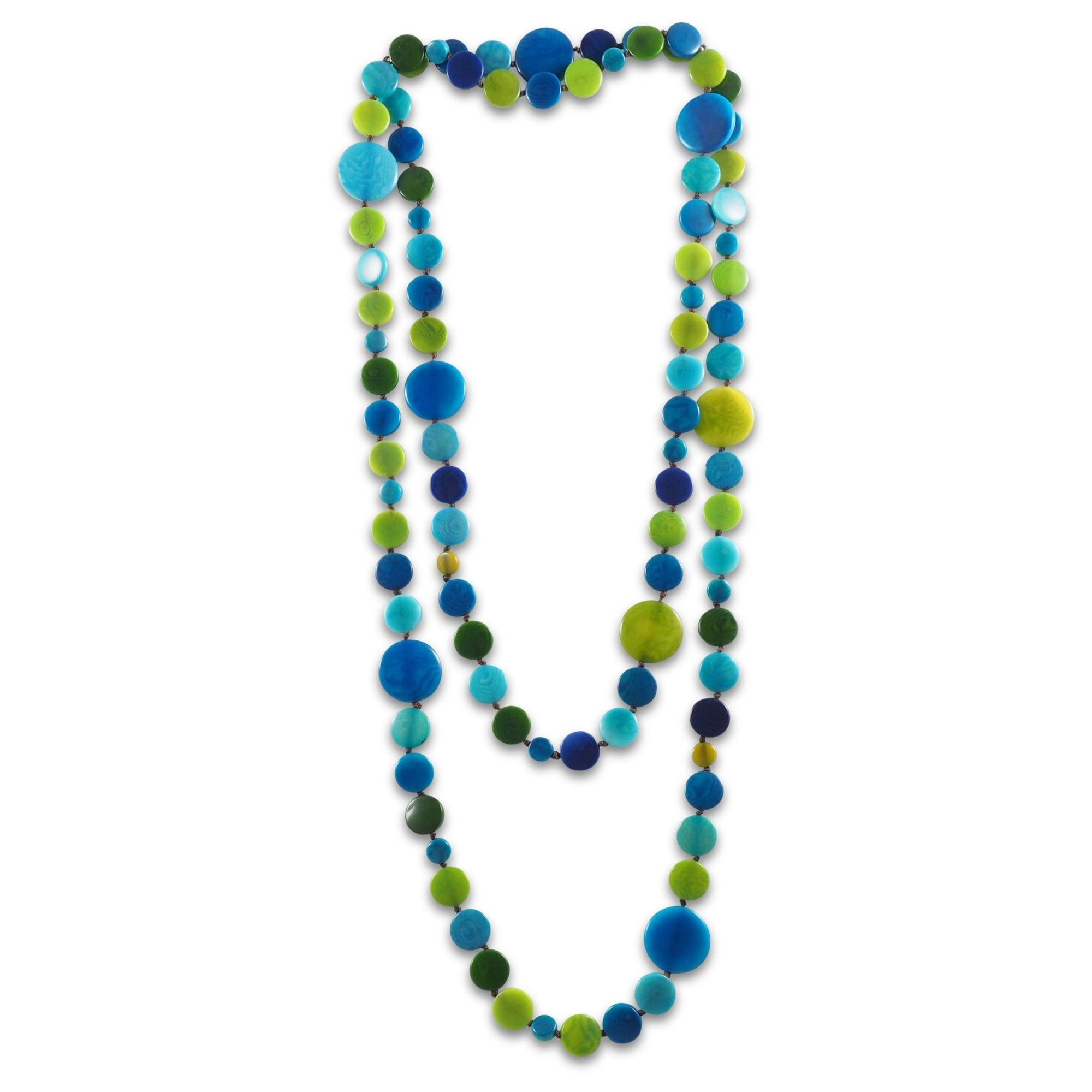 Circa Tagua Beaded Wrap Necklace - Amano Artisans