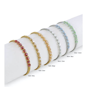 Metallic Czech Murano Bracelet - Colors