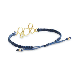 Macrame Bubble Bracelet - God Plated - Back