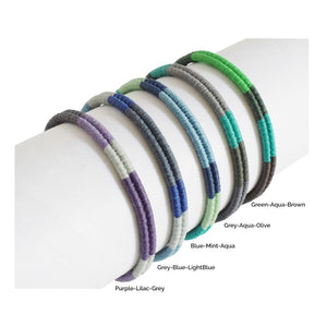 Macrame Duos Adjustable Bracelet for Men and Women - Multicolor Blues