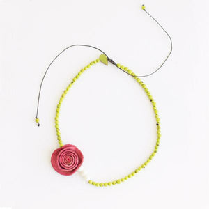 Perlas Rose Necklace - Amano Artisans