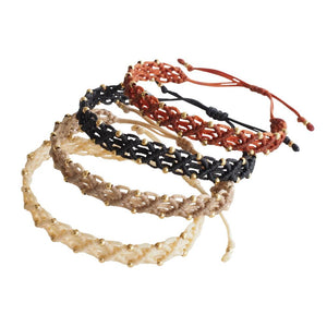 Rombos Macrame Bracelet - Gold Filled Beads - Colors