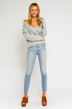 Aspen Escape Grey Knit Sweater