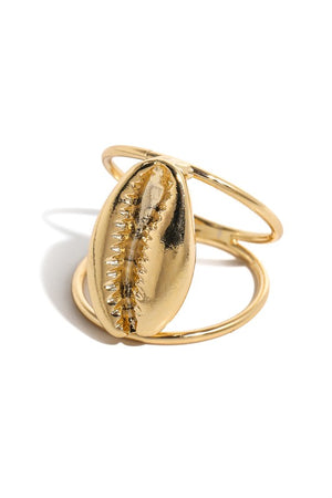 Cowrie Shell Ring-Gold