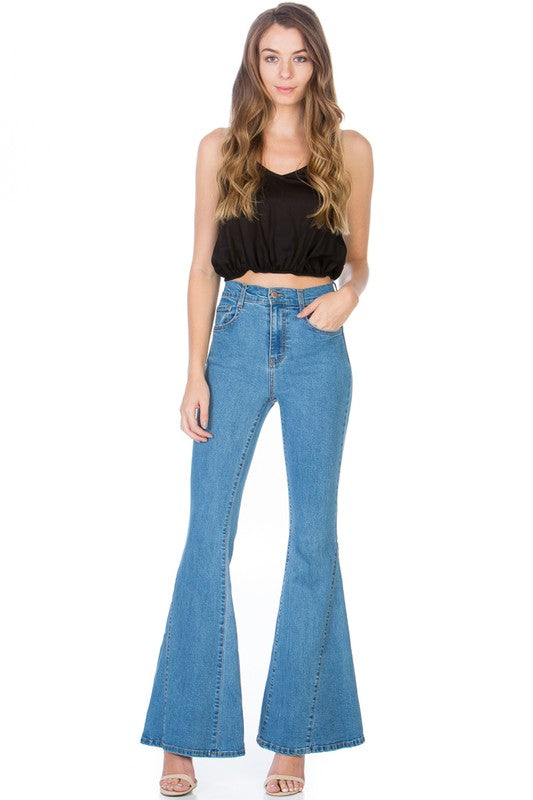 Bella Flare Jeans-Medium Wash